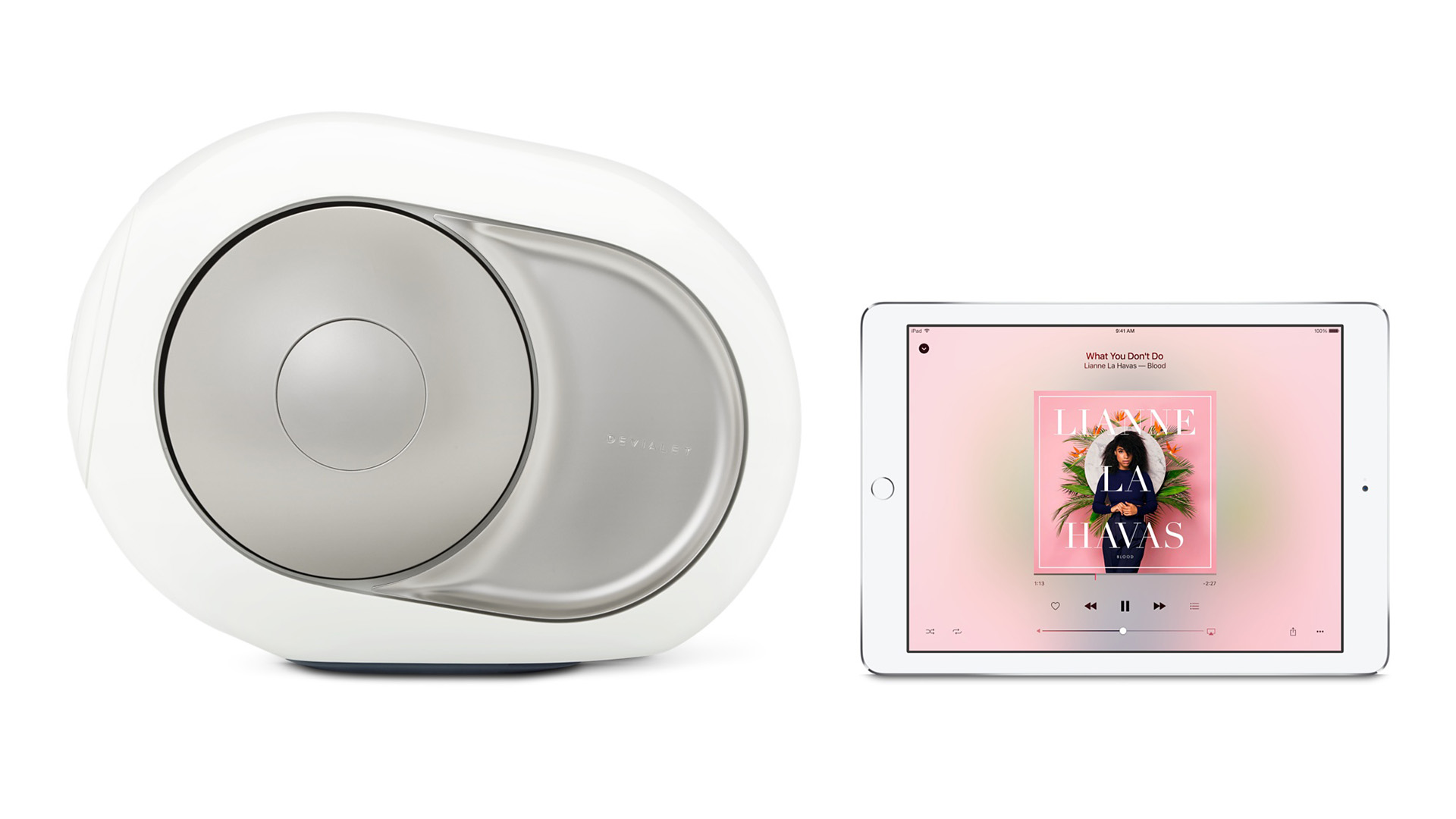 Devialet Silver Phantom en Apple iPad - Chattelin Audio Systems
